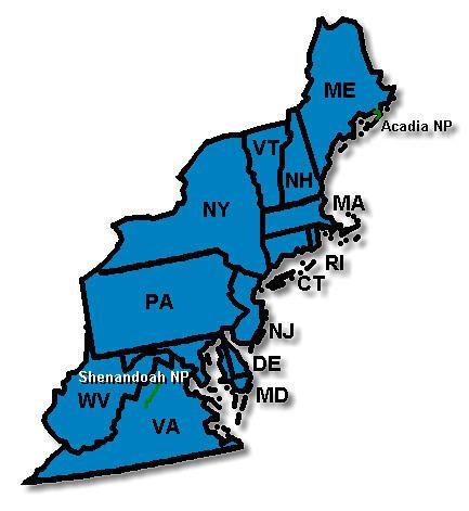 Northeast - Region Map | Unofficial Camp-Inn Forum